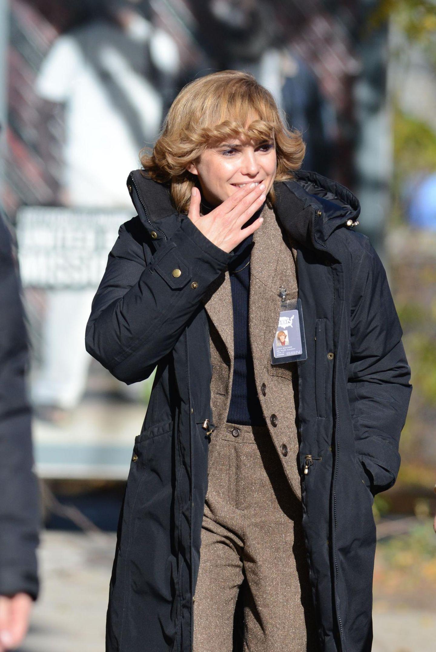"4. November 2013: Keri Russell ist am Set von ""The Americans"" in Brooklyn."