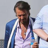 """22. Juli 2013: Al Pacino spielt im Film """"Imagine"""" den alternden Rockmusiker """"Danny Collins"""", der einen ungeöffneten Brief seines Freundes John Lennon findet. Dafür steht er in Pasadena vor der Kamera."""