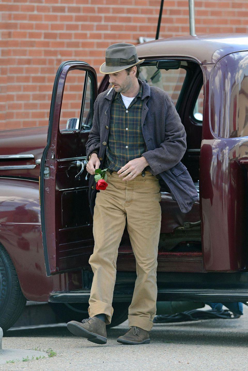 """21. Mai 2013: Luke Wilson steht für den Film """"Dear Eleanor"""" in Boulder, Colorado, vor der Kamera."""