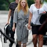 "8. Juli 2013: Julianne Moore steht in Toronto für den Film ""Maps to the Stars"" vor der Kamera."