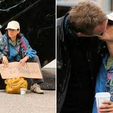 "21. September 2013: In ""Shelter"" spielt Jennifer Connelly eine Obdachlose. In der Drehpause gibt's von ihrem Ehemann Paul Bettany ein Küsschen. Er führt Regie."