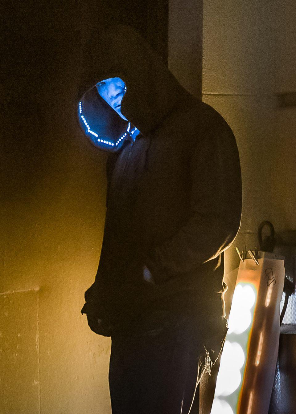 """15. April 2013: Spidermans Widersacher: Jamie Foxx steht für """"The Amazing Spider-Man 2"""" in New York vor der Kamera."""