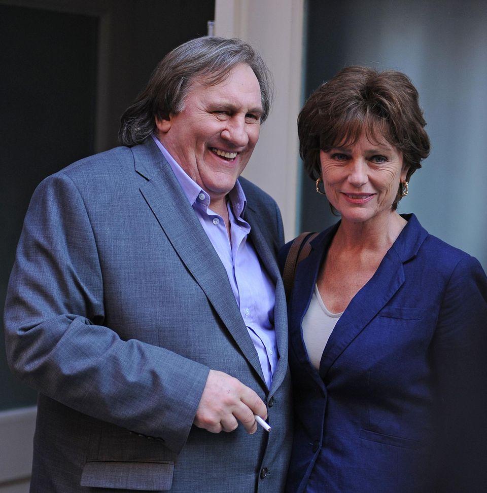 25. April 2013: Gerard Depardieu und Jacqueline Bisset spielen in der Verfilmung über den Sexual-Skandal um den früheren Direktor des Internationalen Währungsfonds Dominique Strauss-Kahn.