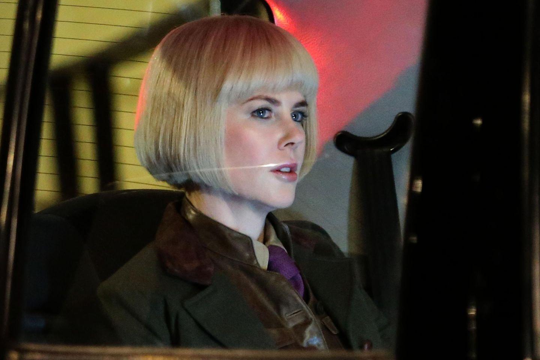 """4. November 2013: Nicole Kidman steht für den Film """"Paddington Bear"""" in London vor der Kamera."""