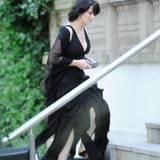 """27. August 2013: Juliette Binoche dreht in Berlin den Film """"Sils Maria"""". Auch Kristen Stewart ist für die Produktion in der Stadt."""