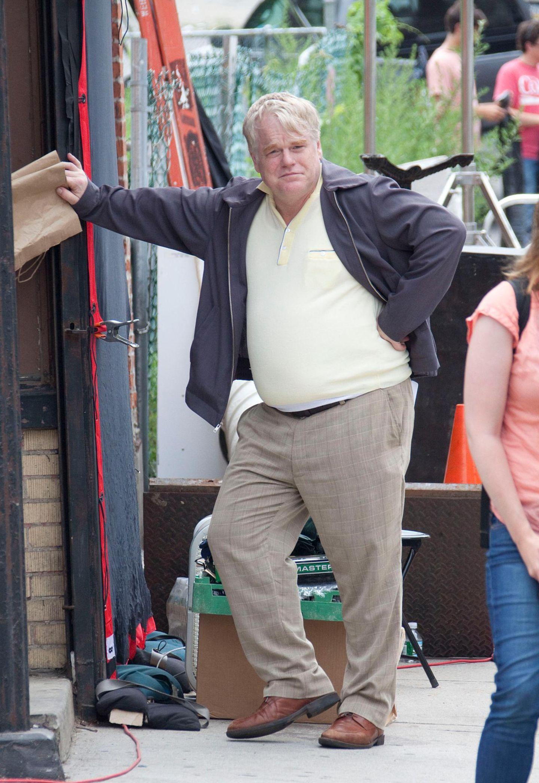 """9. Juli 2013: Phillip Seymour Hoffman steht nach seinem Entzug wieder vor der Kamera. Gedreht wird der Film """"God's Pocket""""."""