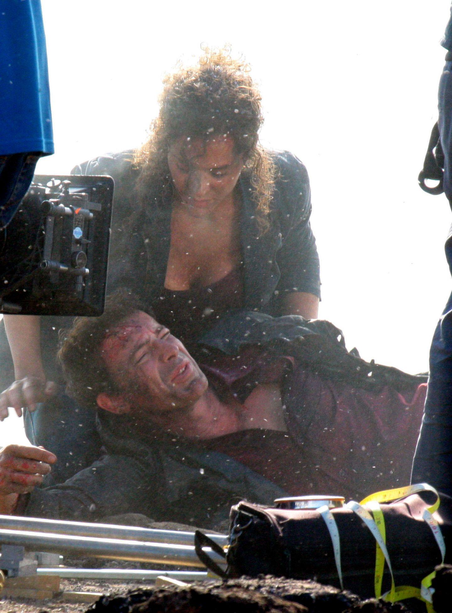 """19. September 2013: Gedeon Burkard legt sich für die Dreharbeiten zu """"Narcotici 2"""" in Rom ins Zeug."""