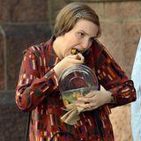 """16. Juli 2013: Lena Dunham steht als """"Hannah"""" für ihre Serie """"Girls"""" in Manhattan vor der Kamera."""