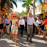 13. November 2013: Königin Máxima und König Willem-Alexander besuchen die niederländischen Antillen in der Karibik.