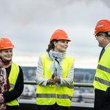 4. Dezember 2013: Prinzessin Victoria von Schweden besucht eine Biogasanlage in der Provinz Norrköping.