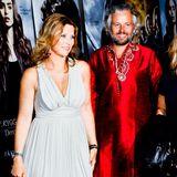 """23. August 2013: Prinzessin Märtha Louise und Ari Behn besuchen die Filmpremiere von """"The Mortal Instruments: City of Bones"""" in Fredrikstad, Norwegen."""
