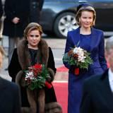 2. Dezember 2013: Königin Mathilde und König Philippe von Belgien werden von Großherzog Henri und seiner Frau Großherzogin Maria Theresa in Luxemburg empfangen.