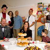 12. November 2013: Prinzessin Marie von Dänemark besucht Kinder und Jugendliche am Krankenhaus Südjütland in Sönderborg.