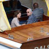 22. August 2013: Für Königin Silvia und König Carl Gustaf von Schweden geht es in Karlstad auf eine Bootstour. Das Königspaar unternimmt eine Tagesreise in der Provinz Värmland im Rahmen der Feierlichkeiten des 40-jährigen Thronjubiläums des Königs.
