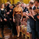 11. Dezember 2013: Königin Mathilde besucht das traditionelle Weihnachtskonzert im Königspalast in Brüssel.
