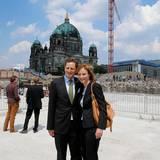 12. Juni 2013: Georg Friedrich von Preußen und seine Frau Sophie nehmen an der Grundsteinlegung für den Neubau des Berliner Schlosses teil.