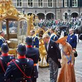 """17. September 2013: Am """"Prinsjesdag"""" eröffnet König Willem-Alexander mit Königin Máxima an seiner Seite das niederländische Parlament in Den Haag. Er hält im Rittersaal seine erste Rede als König."""