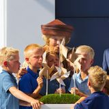 """11. September 2013: Prinzessin Beatrix eröffnet die Windfarm """"Zuidlob"""" im niederländischen Zeewolde."""