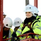 13. November 2013: Prinzessin Victoria besucht einen Windkraftpark in der Nähe der schwedischen Stadt Piteaa.