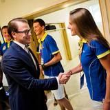 14. August 2013: Prinz Daniel ist zum swedisch-russischen Business Forum nach Moskau gereist. Schnell stattet der Sportfan den schwedichen Leichtathleten während der Weltmeisterschaft einen Besuch ab.