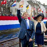 12. Juni 2013: König Willem-Alexander und Königin Màxima besuchen die niederländische Provinz Limburg.