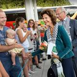 14. August 2013: Königin Silvia und König Carl Gustaf von Schweden reisen nach Västernorrland anlässlich der Feierlichkeiten zum 40-jährigen Thronjubiläum von Carl Gustaf.