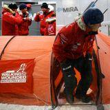 """16. September 2013: Prinz Harry übt fleißig für seine Südpolexpedition im Rahmen von """"Walking with the Wounded"""" und simuliert eine Nacht in der Kältekammer."""