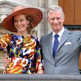 6. September 2013: Königin Mathilde und König Philippe besuchen zum ersten Mal als Königspaar das belgischen Leuven in der Provinz das Flandern.