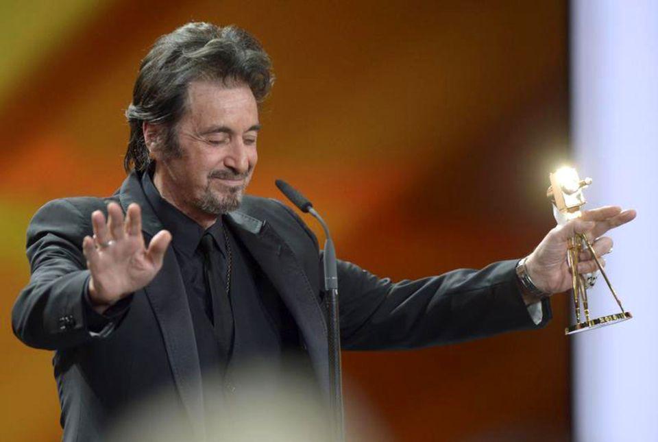 """Al Pacino bedankt sich für die Auszeichnung in der Kategorie """"Lebenswerk International""""."""