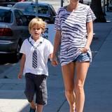 15. September 2013: Gwyneth Paltrow verbringt den Nachmittag mit ihrem Sohn Moses in Venice.