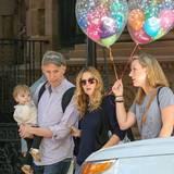 19. September 2013: Drew Barrymore verlässt mit Freunden und Tochter Olive den Geburtstagsbrunch von Jimmy Fallon in New York.