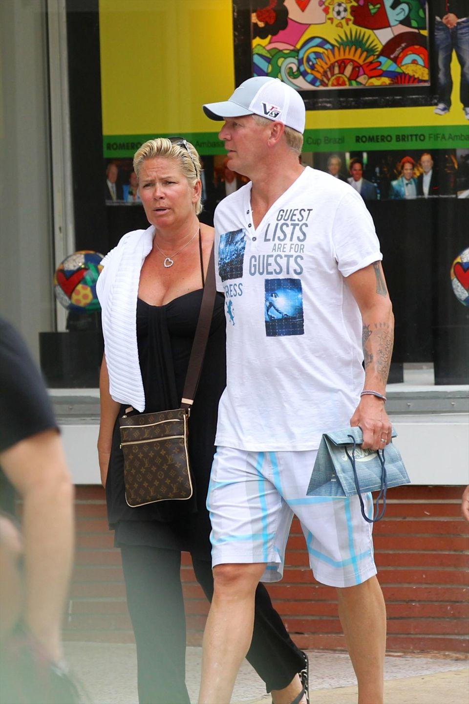 28. Mai 2013: Claudia und Stefan Effenberg schlendern durch Miami Beach.