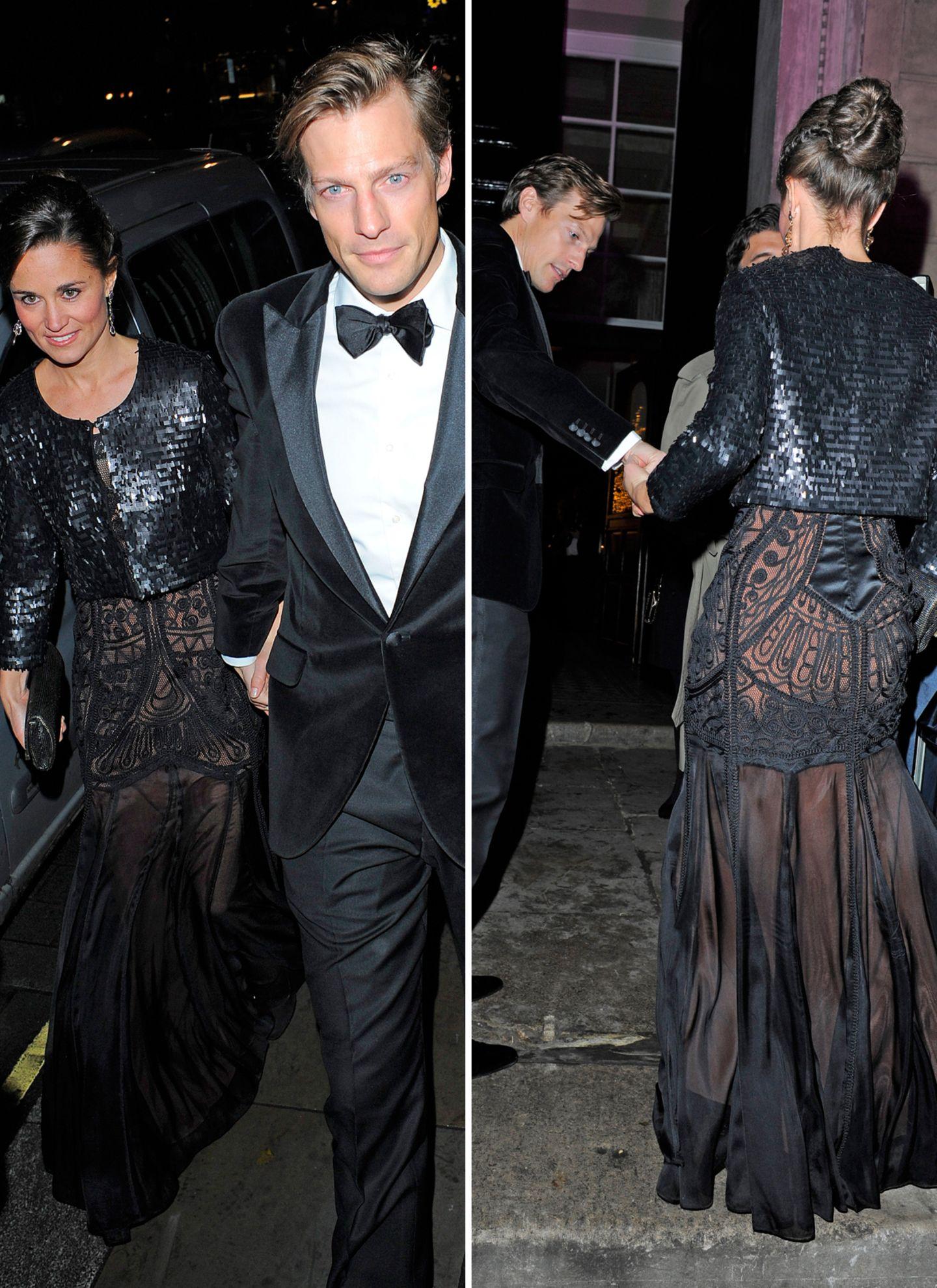 """20. November 2013: Pippa Middleton und ihr Partner Nico Jackson sind auf dem Weg zu dem Wohltätigkeitsball """"Sugarplum"""" in London."""