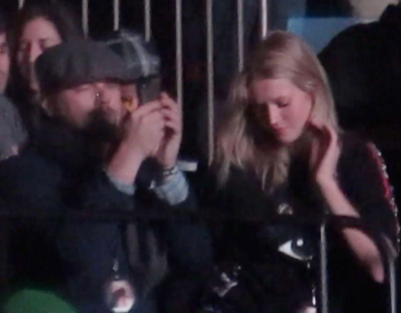 24. November 2013: Leonardo DiCaprio und Toni Garrn besuchen gemeinsam das Konzert von Kanye West in New York.