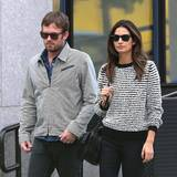 "16. Oktober 2013: ""Kings of Leon""-Sänger Caleb Followill und Model Lily Aldridge gehen in New Yorks Tribeca spazieren."