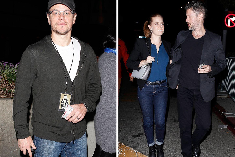 26. November 2013: Stars wie Matt Damon und Amy Adams besuchen Justin Timberlakes Konzert im Staples Center in Los Angeles.
