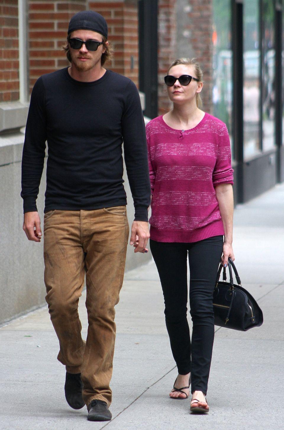 22. Mai 2013: Garrett Hedlund und Kirsten Dunst gehen in Manhattan spazieren.