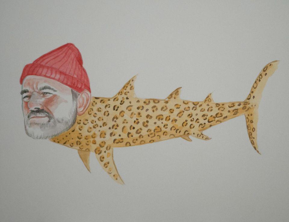 """Bill Murray als Jaguarhai (angelehnt an den Film """"Tiefseetaucher"""")"""