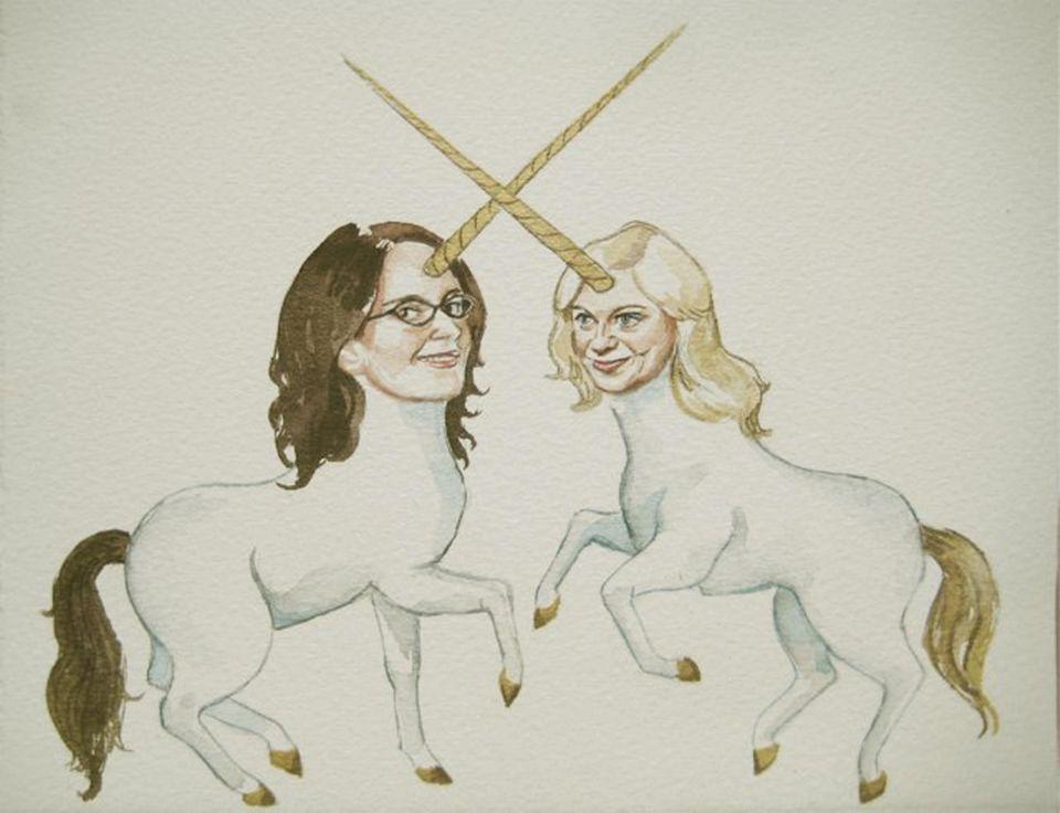 Tina Fey und Amy Poehler als Einhörner