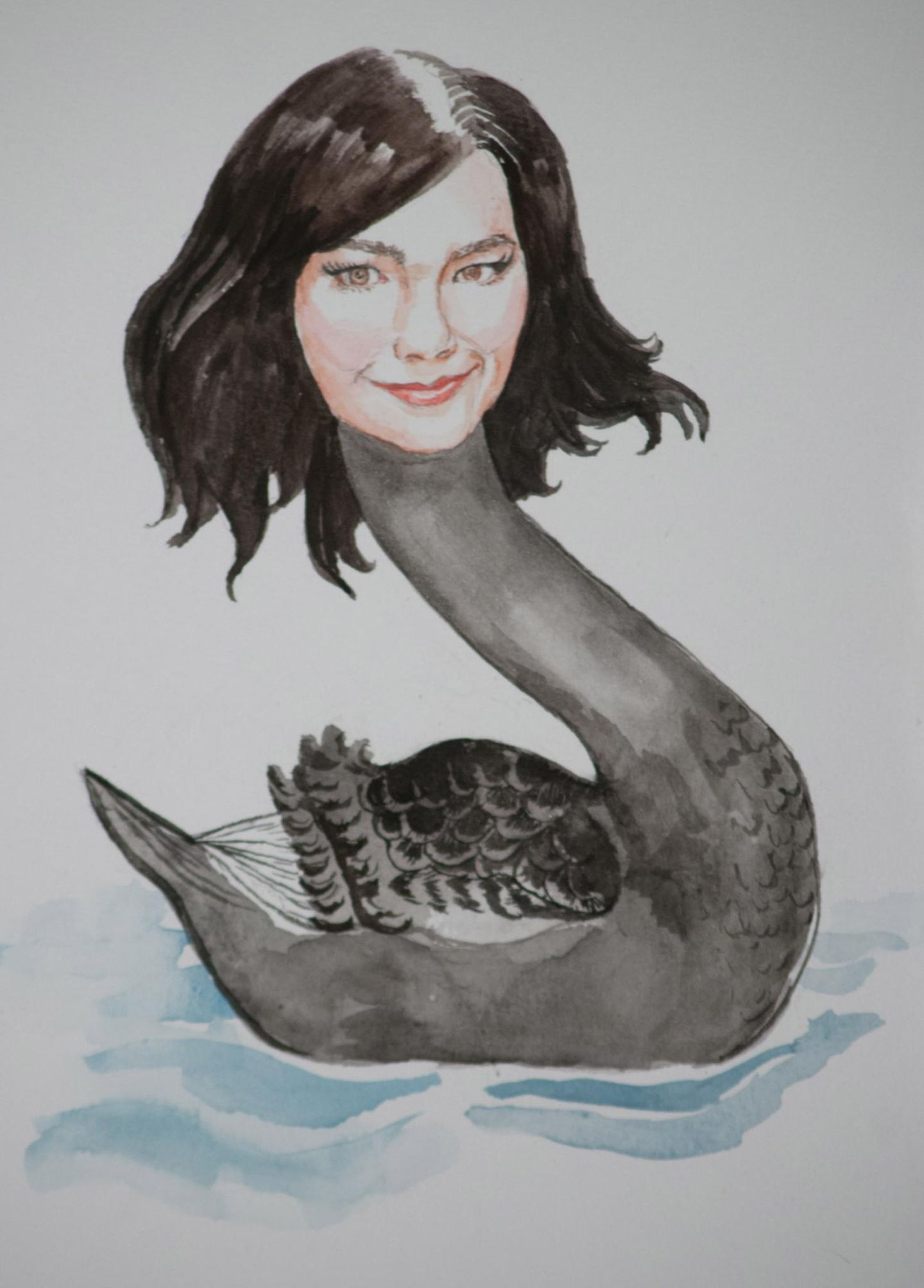 Björk als schwarzer Schwan