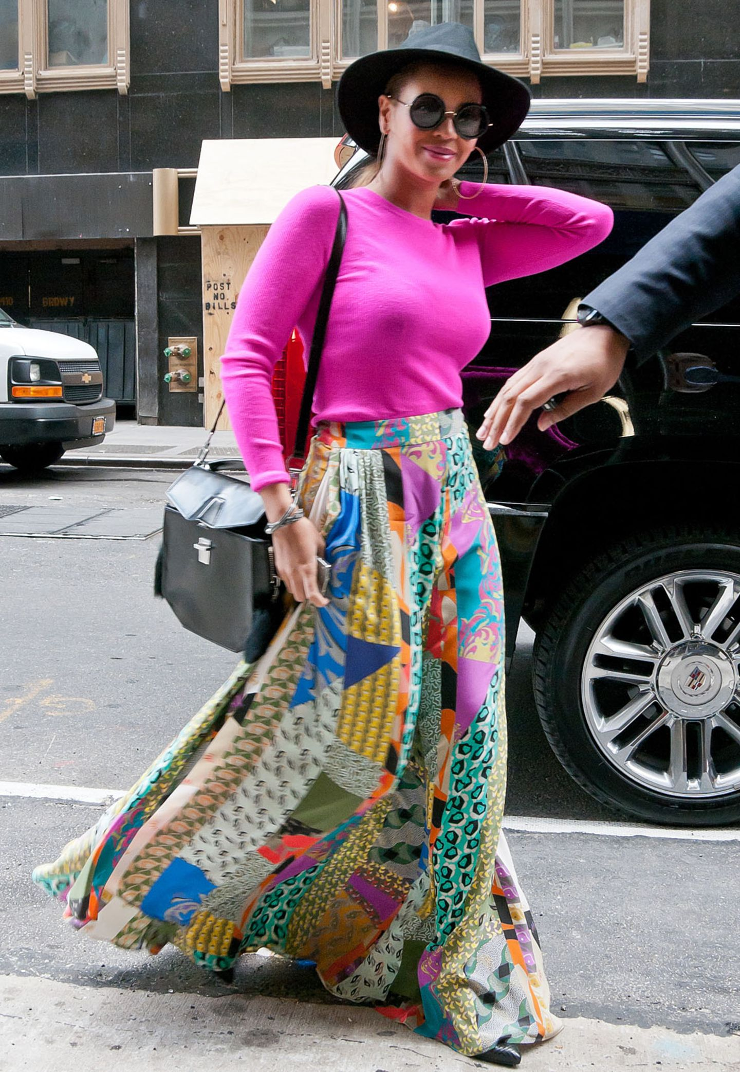 Neonfarben: Beyoncé trägt auch im Alltag gerne knallige Farben.