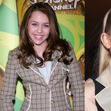 Mit dreizehn Jahren sehen die Zähne von Miley Cyrus noch aus, wie die eines ganz normalen Teenagers. Heute zeigt sich Miley mit blendend weißem Traumlächeln.