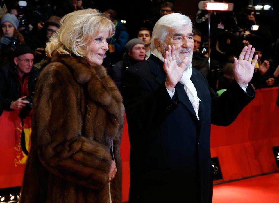 Mario Adorf mit seiner Frau Monique