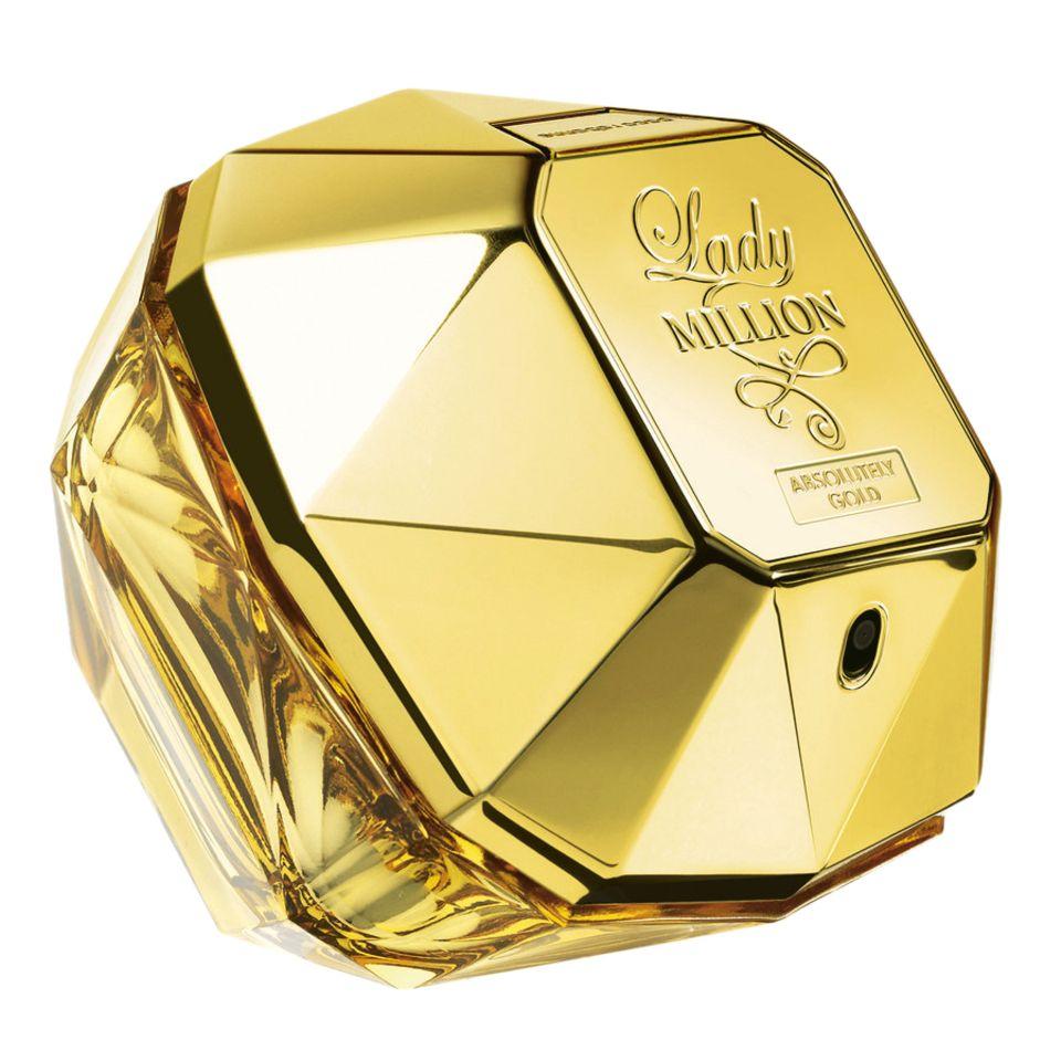 """Damit läuft's rund: Das exklusive """"Lady Million Absolutely Gold"""" enthält 20 Prozent reines Parfüm. Von Paco Rabanne, EdP, 80 ml, ca. 115 Euro, limitiert"""