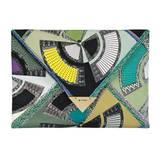 Kunst an der Frau: Kuvert-Tasche mit kubistischer Grafik. Von Etro, ca. 790 Euro