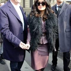 Fashion Week Mailand: Salma Hayek und ihr Mann François-Henri Pinault sind zu Gast bei Gucci.