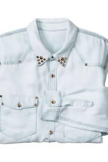 So geht es uns jetzt an den Kragen: Bluse von H&M, ca. 35 Euro