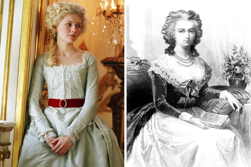 """2006 wird Kirsten Dunst mit Hilfe von aufwändigen Kostümen in dem gleichnamigem Historiendrama unter der Regie von Sofia Coppola zu der französischen Königin """"Marie Antoinette""""."""