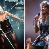 """Für ihre Rolle in """"What's Love Got to Do with It?"""" hat sich Angela Bassett 1993 gemeinsam mit einem Personal Trainer vorbereitet, um an das Vorbild Tina Turner möglichst nahe heranzukommen."""