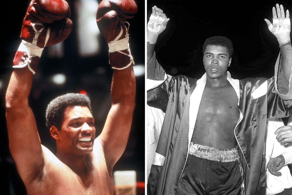 """Will Smith boxt sich 2001 als Muhammad Ali (geboren als Cassius Marcellus Clay Jr.) durch """"Ali""""."""
